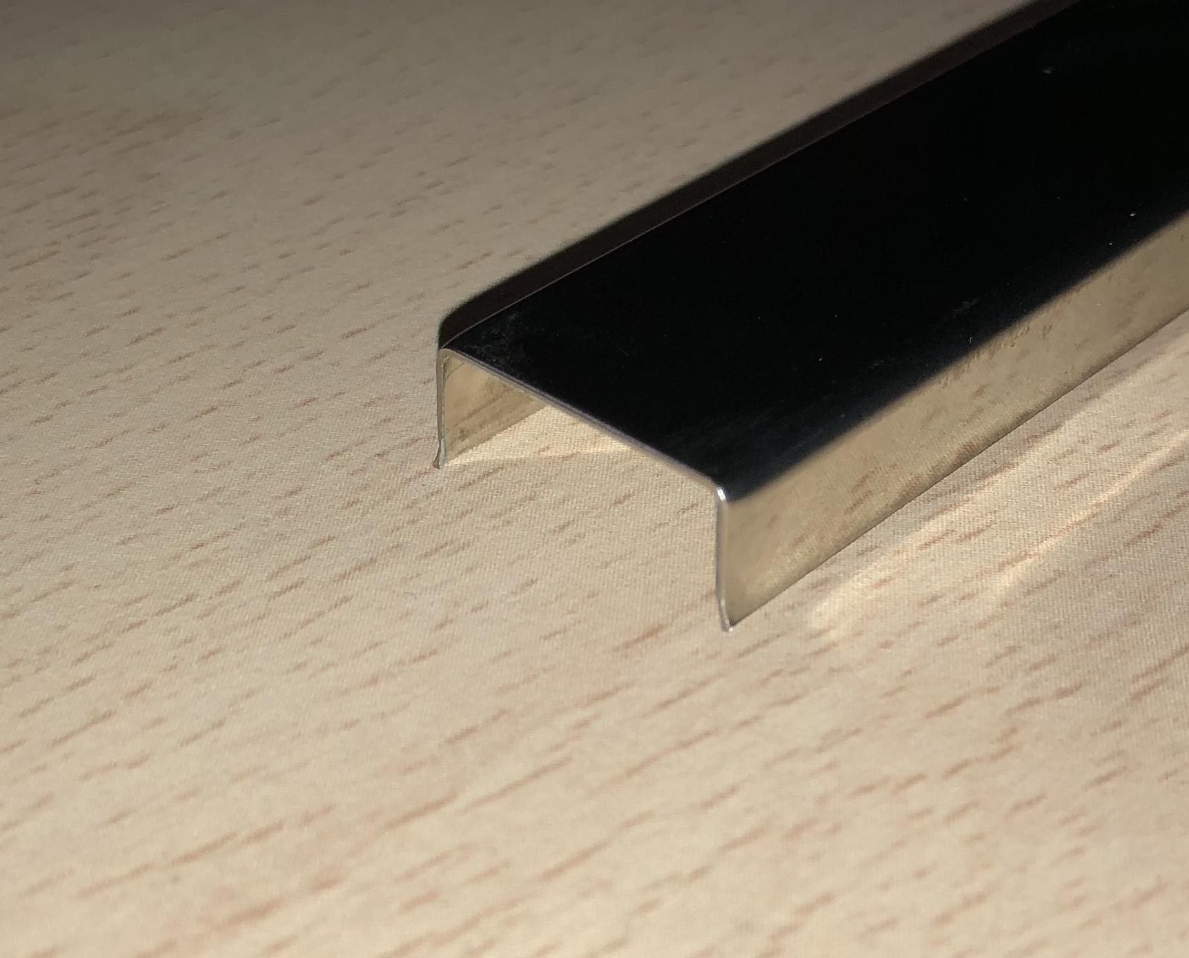 Casmon perfil cenefa acero inoxidable en u 18 x 8 mm - Perfil acero inoxidable precio ...